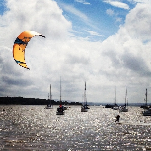 kite boarding in poole harbour